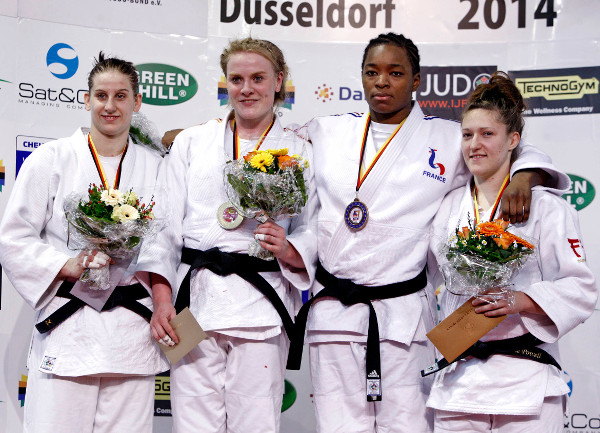 Germany's long wait for gold at the Düsseldorf Grand Prix was finally ended as Luise Malzahn secured victory in the women's under 78kg category ©IJF