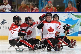 Greg Westlake and his ice sledge hockey team are among 54 athletes named to the Canadian Sochi 2014 Paralympic squad ©Bongarts/Getty Images