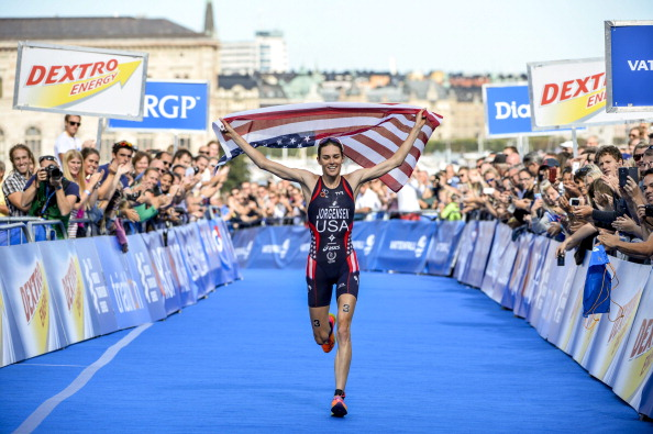 Gwen Jorgensen is one of three USA Triathlon Elite Athletes of the Year for 2013 ©AFP/Getty Images