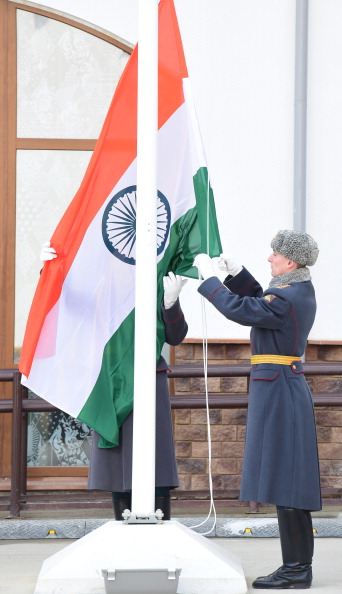 India's flag has been officially raised in the Olympic Village at Sochi 2014 during a special ceremony ©Getty Images