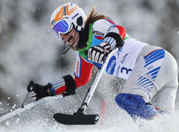 Inga Medvedeva struck twice at the IPC Alpine Skiing World Cup finals, winning her opening two races in Italy ©Getty Images