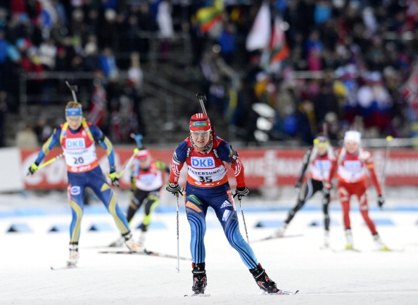 Biathlete Irina Starych was removed from the Russian team after her positive test was confirmed two weeks before the Games ©AFPGetty Images