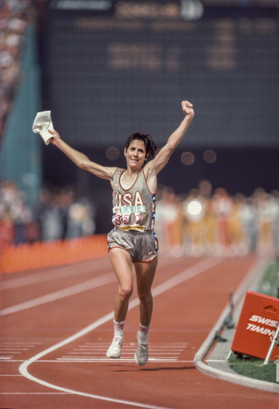 American Joan Benoit wins marathon gold at the Los Angeles 1984 Olympics ©Getty Images