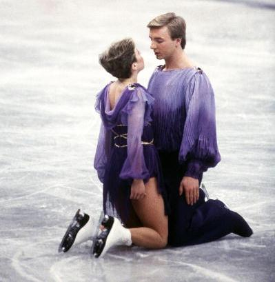 Jayne Torvill and Christopher Dean en route to Olympic ice dance gold at the 1984 Winter Games in Sarajevo, where they will return this week to reprise their famed Bolero routine ©Getty Images