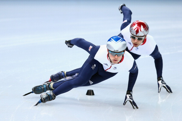 John Eley training as part of the British team in Sochi earlier this week ©Getty Images