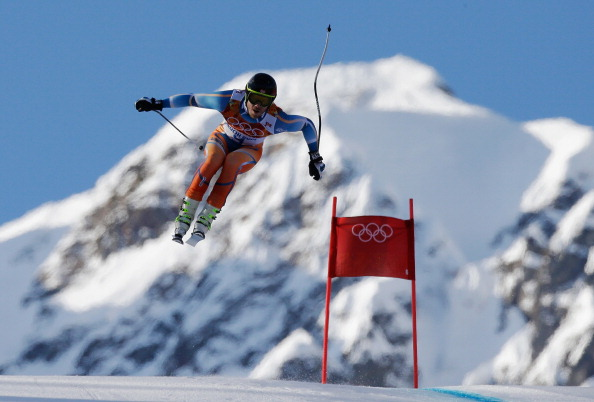 Kjetil Jansrud of Norway stiill holds the super combined downhill lead ©Getty Images