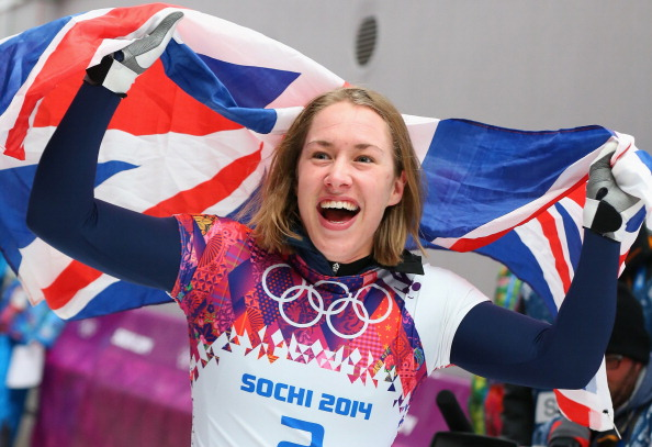 Lizzie Yarnold dominated the skeleton competition to win the first British gold of Sochi 2014 ©Getty Images