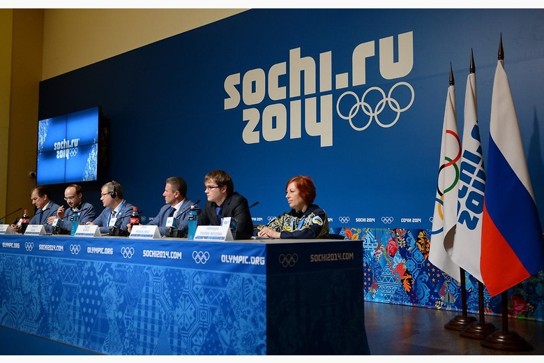 Lviv 2022 presented their bid concept to the world's press during Sochi 2014 when their team included now sacked Deputy Prime Minister Oleksandr Vilkul ©NOCU