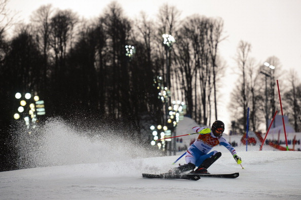 Mario Matt of Austria leads in the slalom ©AFP/Getty Images