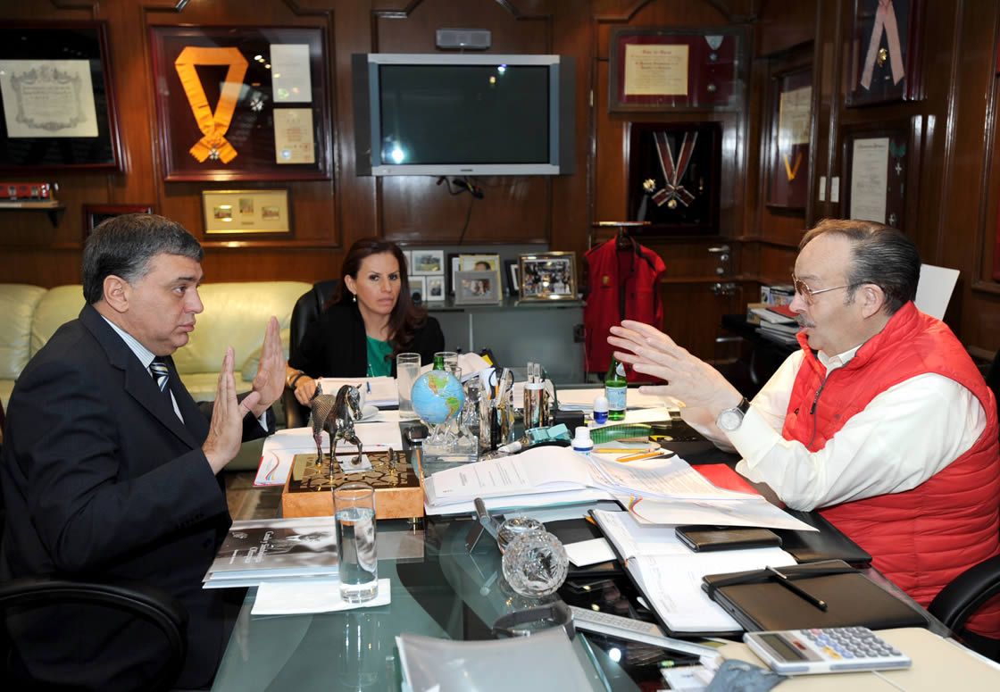 Mario Výzquez Raýa (right) is pleased with Lima's plans for the 2019 Pan and Parapan American Games ýPASO