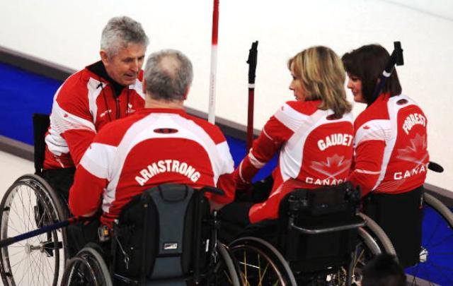 """Members of the reigning Paralympic wheelchair curling champions, Canada feature in the """"What's There"""" campaign ©Bongarts/Getty Images"""