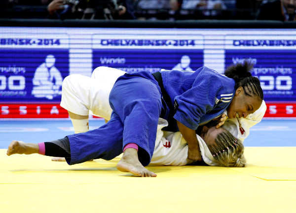 Morocco's Assmaa Niang has won the first World Judo Tour medal of her career with victory over Great Britain's Sally Conway ©IJF