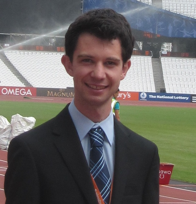 Nick Butler in the Olympic Stadium