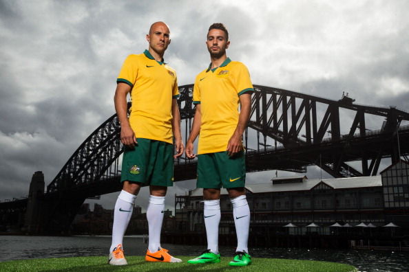 Nike Australia and Football Federation Australia have revealed the Australian national kit set to be worn at the 2014 FIFA World Cup ©Getty Images