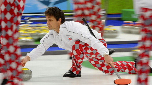 The popularity of Norway's trousers means no neutral wants to see them lose to Britain in today's curling play-off ©Toronto Star/Getty Images