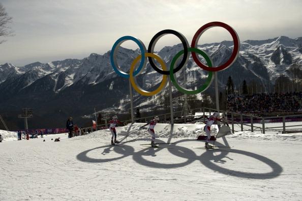Olympic rings in snow