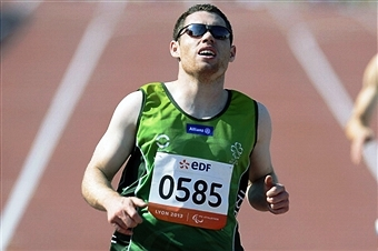 Paralympic sprint star Jason Smyth is one of 45 athletes named to the 2014 Athlete Panel by Paralympics Ireland ©AFP/Getty Images