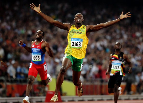 Predictably perhaps, a celebrating Usain Bolt was picked as a particular photography highlight ©Getty Images