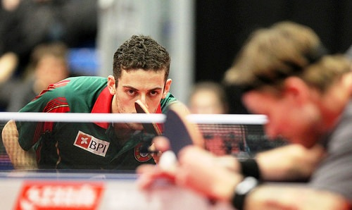 Portugal's Marcos Freitas took the men's title at the 2014 Europe Cup in Lausanne ©Remy Gros/ITTF