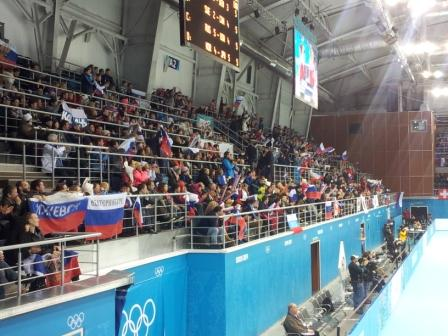 Russian support as the host nation edge ahead against the United States ©ITG