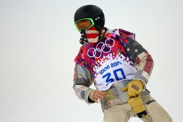 Shaun White goes in the men's halfpipe ©Getty Images