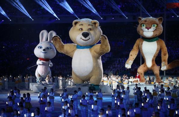 Sochi 2014 mascots closing ceremony
