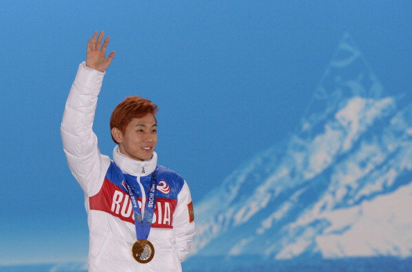 South Korean born short track speed skater Viktor Ahn became a Russian citizen in 2011 and ultimately won three gold medals and a bronze for the Olympic host nation at Sochi 2014 ©AFP/Getty Images