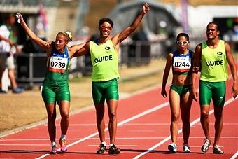 Teammates Terezinha Guilhermina and Jerusa Santos will do battle in Dubai at the IPC Athletics Grand Prix ©Getty Images
