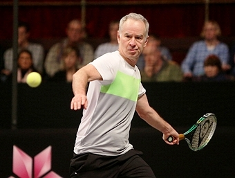 Tennis legend John McEnroe will be one of the stars taking part in matches on World Tennis Day in March ©Getty Images