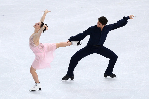 Tessa Virtue and Scott Moir went into the lead in the ice dancing with a seasons best performance ©Getty Images