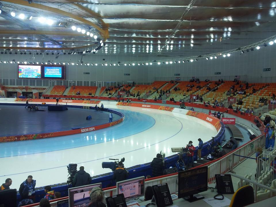 The Adler Arena is just beginning to fill up ahead of the speed skating this evening ©ITG