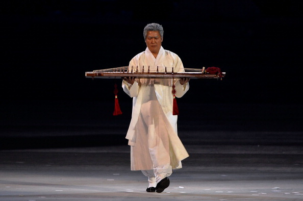 A Gayageum - the Korean musical instrument which produced the soundtrack to the Pyeongchang 2018 segment ©Getty Images
