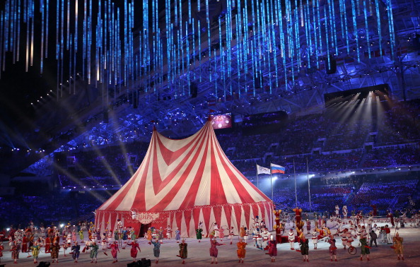 The Magic of Circus was a highlight of the Sochi 2014 Closing Ceremony ©Getty Images