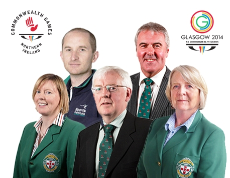 The Northern Ireland leadership team including Chef de Mission Robert McVeigh (centre) who will travel to Glasgow 2014 with Team Northern Ireland ©NICGC
