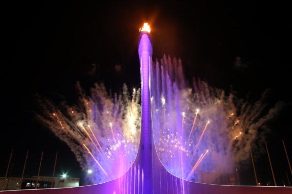 The Olympic Cauldron is finally lit to highlight the Opening Ceremony here this evening  ©AFP/Getty Images