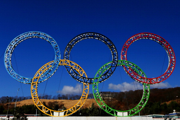 The Olympic Rings outside Sochi airport ©Getty Images