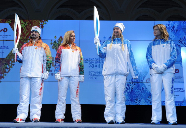 The Paralympic Torch right has started its journey across Russia Getty Images