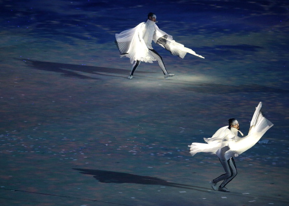 The Pyeongchang 2018 section of the Closing Ceremony ©McClatchy-Tribune/Getty Images