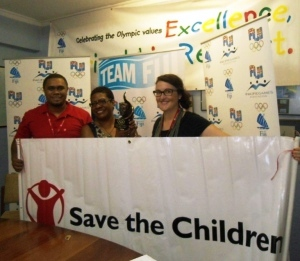 The Save the Chidren Fiji campaign has been awarded the IOC Trophy for 2013 ©FASANOC