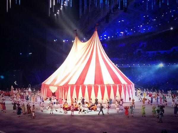 The circus tent took 60 seconds to put up and 20 to take down ©Twitter