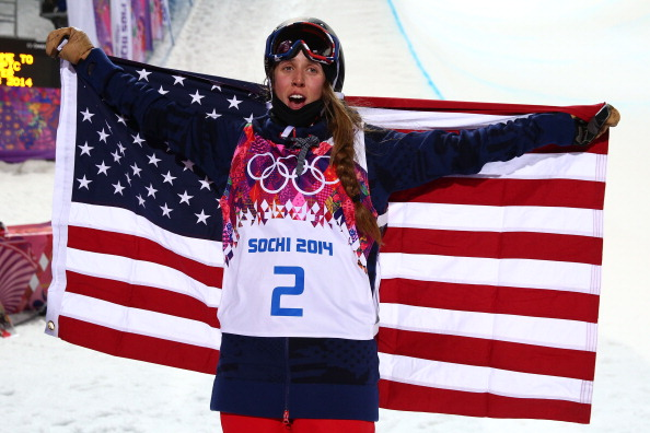 Maddie Bowman wins ski halfpipe gold. Will it be the the first of several US celebrations tonight? ©Getty Images