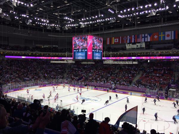 The ice hockey as pictured by Sochi 2014 chief Dmitry Chernyshenko ©Twitter