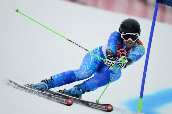 Tina Maze is bidding to win a second gold medal following her downhill co-victory ©AFP/Getty Images