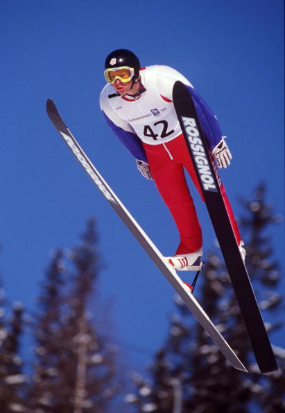 Todd Lodwick competing at the first of six Olympic Games, so far, in Lillehammer 1994 ©Getty Images