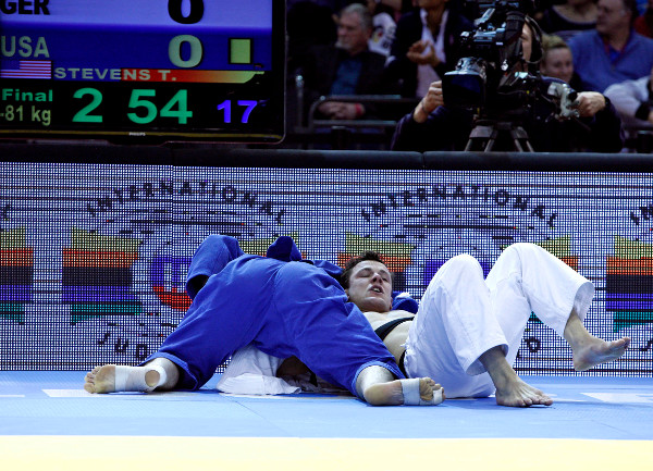 Travis Stevens dominated the men's under 81kg category as he laid siege to his opponents to secure a much deserved gold medal ©IJF