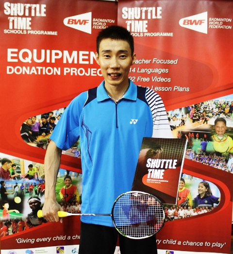 World number one Lee Chong Wei has donated some of his old equipment to the Equipment Donation Project ©BWF