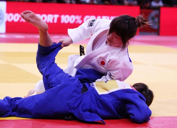 Yamagishi Emi defeated world champion Munkhbat Urantsetseg to take gold in the women's -48kg © IJF Media Team by G Sabau, T Zahonyi and N Messner