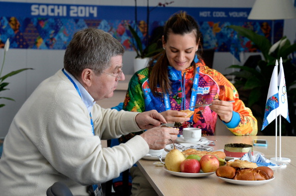 Yelena Isinbayeva faced calls for her to be sacked as Mayor of the Olympic Village last year after comments she made but she is now regularly appearing alongside IOC President Thomas Bach ©Getty Images
