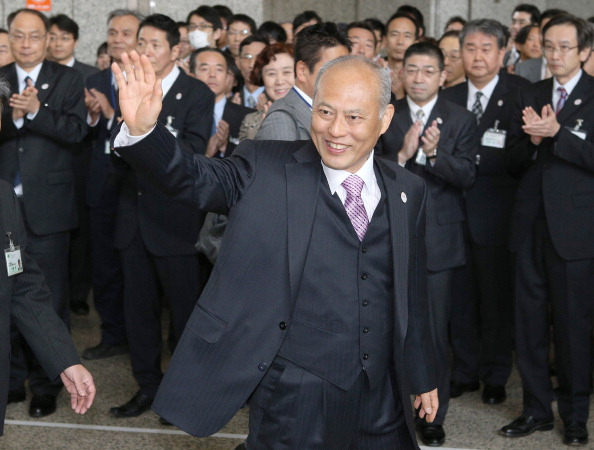 Yoichi Masuzoe will travel to Sochi 2014 to attend the Closing Ceremony after his victory in the Tokyo Governor elections ©JIJI PRESS/AFP/Getty Images