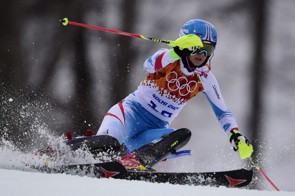 Austria's Michaela Kirchgasser has been bumped down to third in the super combined ©AFP Getty Images